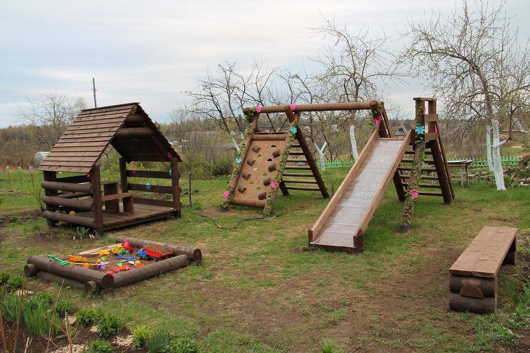 Проект детской площадки для дачи своими руками фото 63