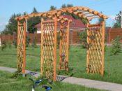 Перголы и арки из дерева для дачи или сада
