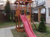 Детские городки из дерева для дачи и сада