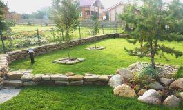 Устройство подпорной стенки и рулонного газона в Некрасово